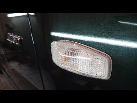 Снятие-установка повторителя поворота с переднего крыла, Hyundai Tucson 1,а так же замена лампы.