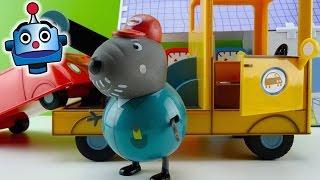 getlinkyoutube.com-Peppa Pig Grua del Abuelo Dog Grandpa Dog Tow Truck - Juguetes de Peppa Pig
