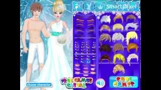 getlinkyoutube.com-Disney Frozen's Elsa Wedding Dress Up Game