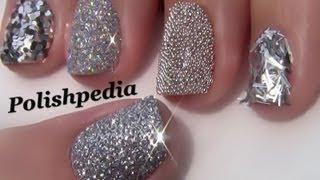 getlinkyoutube.com-Silver Glitter  Nails