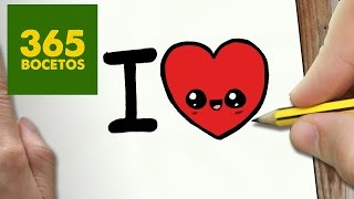 COMO DIBUJAR CORAZON KAWAII PASO A PASO - Dibujos kawaii faciles - How to draw a HEART