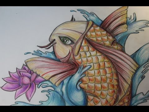 Speed Drawing -  Carpa Koi