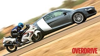 getlinkyoutube.com-Audi R8 meets Suzuki Hayabusa in Jaisalmer