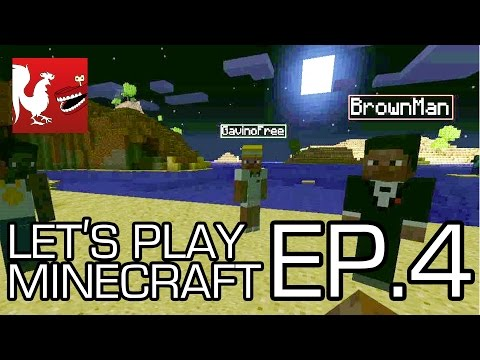 Let's Play Minecraft Part 4 - Race to Bedrock!