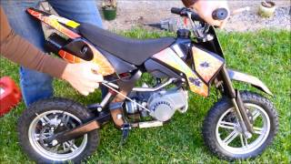 getlinkyoutube.com-PRIMER ENCENDIDO DE POCKET BIKE MOTOR 2 TIEMPOS