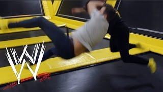 getlinkyoutube.com-WWE MOVES AT THE TRAMPOLINE PARK 3
