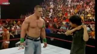 getlinkyoutube.com-Mr. Chow attacks John Cena at Raw 7/3/09