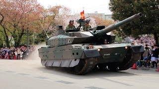 突っ込む10式戦車に客席騒然!20140413 練馬駐屯地