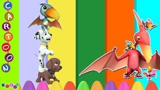 getlinkyoutube.com-Paw Patrol Dinosaurs Finger Family Nursery Rhymes ◕‿◕ KidsF