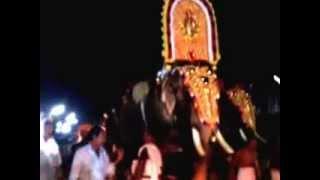 getlinkyoutube.com-Elephant attack in Night Thiroor temple 2015