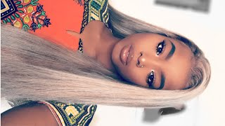 HOW TO: TURN YOU LACE FRONT WIG FROM BLACK TO ASH BLONDE || Detailed step by step