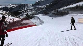 getlinkyoutube.com-Passo Pordoi - Arabba / lyžovačka 02-24-2012