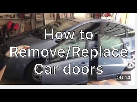 How to install front and rear doors and install hitch 2005 Prius