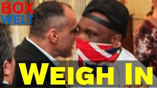 getlinkyoutube.com-Bulgarian fan hits Dereck Chisora in the face during weigh in - 06.05.2016