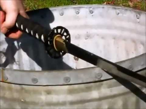 Ronin Katana - Samurai Sword Destruction Testing - Sword vs Sword - Sword vs Wood