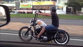 getlinkyoutube.com-Harley Davidson Custom Bobber Chopper Sportster Forty Eight 48 Cruising