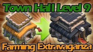 getlinkyoutube.com-FINALLY UPGRADING TO TOWN HALL LEVEL 9 + High Resource Farming Extravaganza!!!!