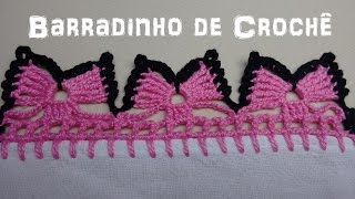 getlinkyoutube.com-Barradinho de Crochê Fácil de Fazer # Borboletas