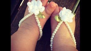 getlinkyoutube.com-Adornos De Pies Con Perlas Preciosas Para Bebés - Baby Diva Designs