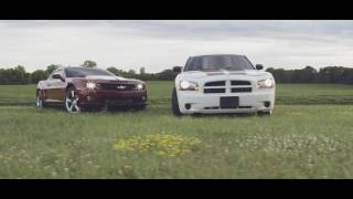 getlinkyoutube.com-The Duramax Camaro and Cummins Charger take to the streets.
