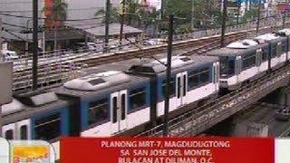 getlinkyoutube.com-UB: Planong MRT-7, magdudugtong sa San Jose Del Monte, Bulacan at Diliman, QC