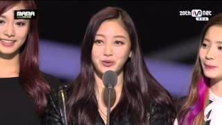 "getlinkyoutube.com-MAMA 2015 ""Best New Female Artist - TWICE(트와이스)"" - Mnet Asian Music Awards in HongKong"