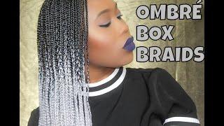 getlinkyoutube.com-Gray Ombre Box Braids + Maintenence Tips