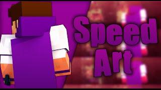 "getlinkyoutube.com-Minecraft Speed Art #5 Banner/Channel Art- ""Kaotic"""