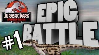 getlinkyoutube.com-Epic Battles Ep : 1 Velociraptors V Triceratops