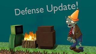 "Plants vs Zombies in 1 Command Block ""Defense Update"" [Minecraft/Series 2]"