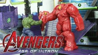getlinkyoutube.com-어벤져스 에이지 오브 울트론 헐크 버스터 브레이크 아웃 세트 장난감 아이언맨 헬로카봇 Marvel Avengers HQ Hulk Buster Breakout Set Toys