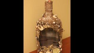 "getlinkyoutube.com-Декорирование бутылки ""3D"" (bottle decoration)."