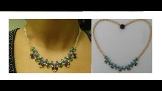 getlinkyoutube.com-How to make necklace with just beads and thread