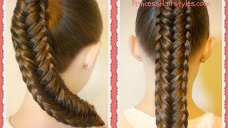 getlinkyoutube.com-Twisted Edge Fishtail Braid, Hair Tutorial