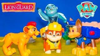 getlinkyoutube.com-LION GUARD Nickelodeon Paw Patrol Meet Disney Kion Lion Guard Video Parody