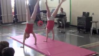 getlinkyoutube.com-6th Grade Gymnastics Talent Show Routine