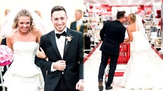 getlinkyoutube.com-Bride Obsessed with Target Re-Creates Wedding Photos At Store