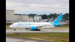 Rais Magufuli Akipokea Ndege Mpya Boeing 787-8 width=