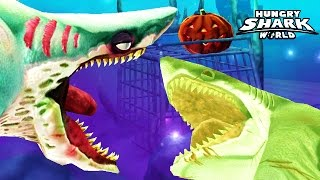 getlinkyoutube.com-Hungry Shark World - Zombie Shark ZOMBIFIES Megalodon