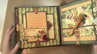 getlinkyoutube.com-8x8 12 Days of Christmas Mini-Album featuring Graphic45
