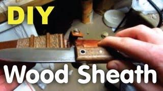 getlinkyoutube.com-DIY Wooden Knife Sheath