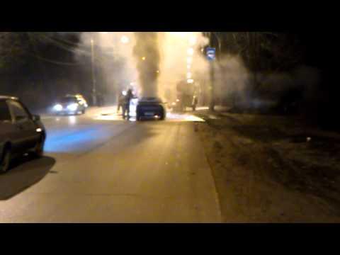 Пожар в Калуге на Тарутинской 18.04.2013
