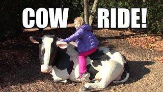 getlinkyoutube.com-Riding a Cow!  Beautiful Hershey Gardens!  Life With Jillian & Addie of Babyteeth4
