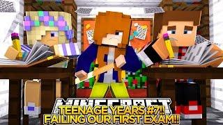 getlinkyoutube.com-TEENAGE YEARS #7 - DONNY FAILS HIS FIRST EXAM!! Minecraft Custom Roleplay.