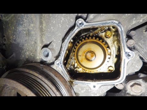 Замена оригинал роликов, помпы, ремней Infiniti FX35 Разбираем ролики, снимаем натяжитель и помпу