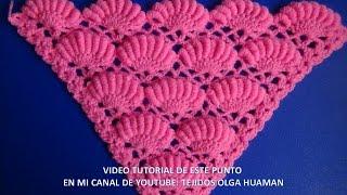 getlinkyoutube.com-chal triangular tejido a crochet paso a paso en  punto rococo