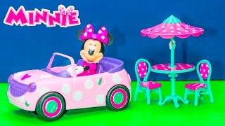 getlinkyoutube.com-MINNIE MOUSE Disney Junior Minnie's Roadster Remote Control Car + Little Charmers Video Toy Review