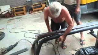 getlinkyoutube.com-Bicicleta caseira. Projeto bicicleta chopper de barra chata.