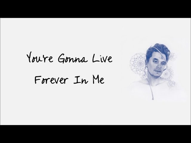 YOU'RE GONNA LIVE FOREVER IN ME - JOHN MAYER karaoke version ( no vocal ) lyric instrumental