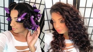 getlinkyoutube.com-Flexi Rod Set On Blown Out Straight Natural Hair Tutorial